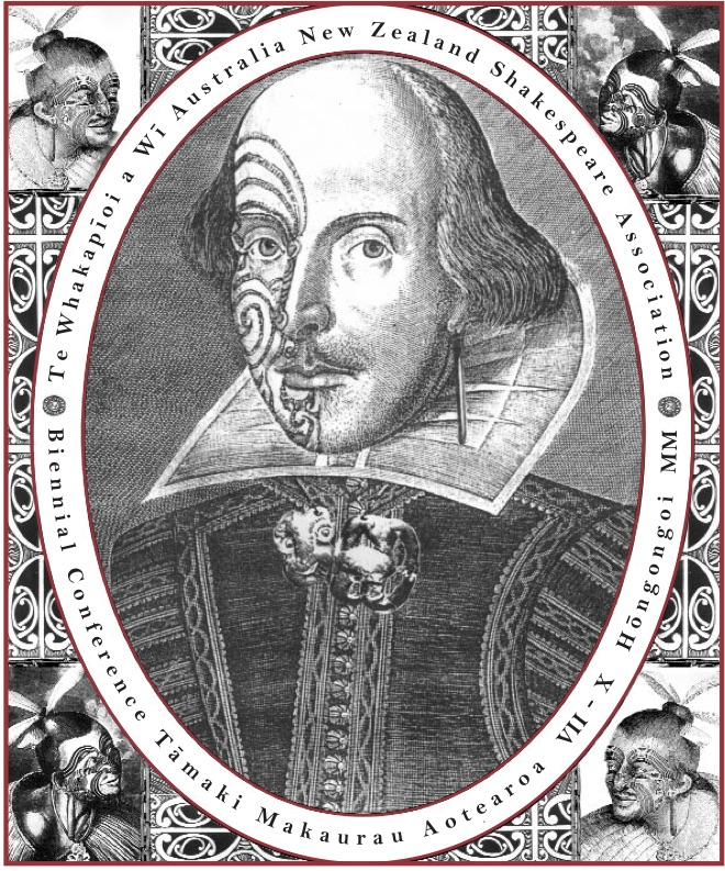 """Poster for the 2000 ANZSA Conference, """"Dislocating Shakespeare"""""""